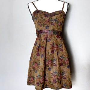 Free People Tapestry Look Bustier Dress
